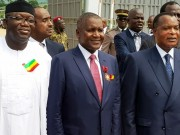 Dangote with Congolese President and Fayemi