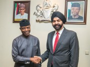 Osinbajo with Mastercard CEO