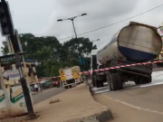 Tanker almost fell at Moshalashi Ipaja