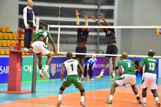 Nigeria Volleyball team in action