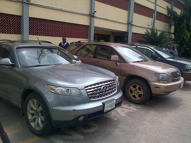Cars recovered from Ikorodu bank robbers