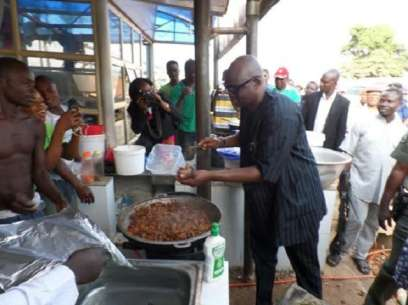 Fayose at goat meat joint